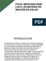 Norma Oficial Mexicana Nom-035-Ssa3-2012, En Materia De