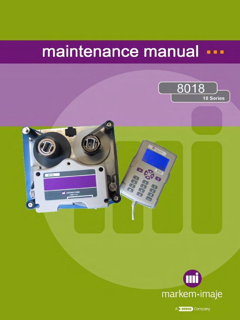 8018 Maintenance Manual Rev CB English | Printer (Computing) | Reliability  Engineering