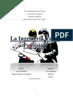 Informe Introduccion a La Ingenieria, Ingenieria Como Profesion