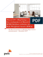 Pwc Basel IV Big Bang or the Endgame of Basel III Dec 2017