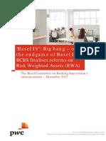 Pwc Basel IV Big Bang or the Endgame of Basel III Dec 2017