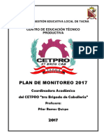Plan de Monitoreo 2017 Final