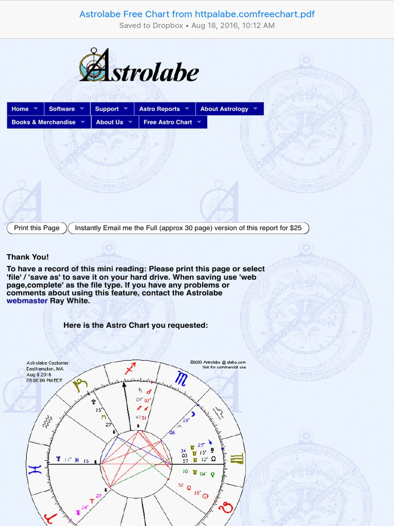 Astrolabe free chart from httpalabefreechart astrology science geenschuldenfo Images