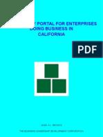 Regulatory Portal For Enterprises Doing Business In California