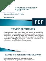 Implementacion de Tecnicas Formativas.