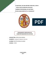 Pachamama (ORIGEN DEL PENSAMIENTO IDEOLOGICO DE LOS INCAS)