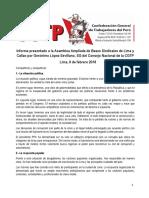 Informe Político 9 Febrero 2018 Bases CGTP Lima.