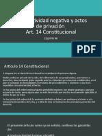 Retroactividad Negativa y Actos de Privación- Art 14
