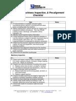 Checklist Alineacion