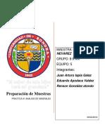 PREPARACION DE MUESTRAS ANALISIS DE MINERALES