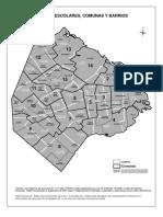 Distritos Escolares Comunas y Barrios
