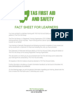 Fact Sheet for Learners