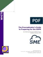 The Procrastinator's Guide to Preparing for the GDPR - SME