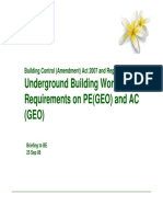 UndergroundBasementWorks Requirements