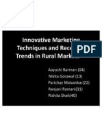 Innovative Marketing Techniques and Recent Trends in Rural