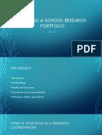 Building a School Research Portfolio