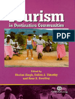 Tourism in Destination Communities