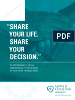 """""""SHARE YOUR LIFE. SHARE YOUR DECISION."""" How the Campaign to Increase Organ Donations Provides a Model for Public Health Awareness Efforts"""