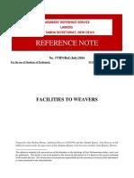 Facilities to Weavers