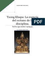 Tsong Khapa La Esencia Del Océano de La Disciplina.