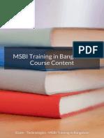 Msbi Training Course Content in Bangalore