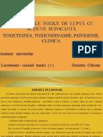 SUBSTANȚELE  TOXICE  DE  LUPTĂ  CU  ACȚIUNE  SUFOCANTĂ.pptx