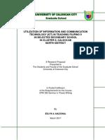 1-3 Utilization of Ict in Filipino 9