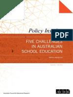 five challenges in australian school education