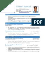 CV Umesh Jaiswal