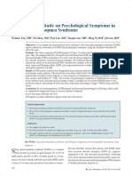 A Case-control Study on Psychological Symptoms in Sleep