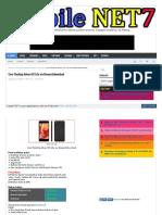 Cara Flashing Advan i5C Lite via Researchdownload