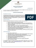 SCR AvisRecrutement AuditeurInterneSenior05022018