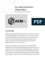 AEM Training _ Adobe Experience Manager Training Online