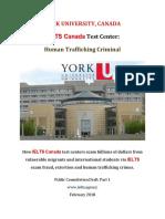York University Canada IELTS Fraud