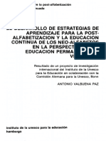 Informe de La UNESCO de 1984 de Alfabetización en Vzla