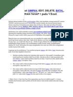 Cara Membuat Simpan, Edit, Delete, Batal, Pencarian Tahap 1 Pada Vb.net