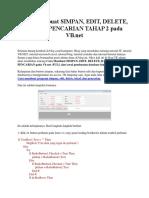 Cara Membuat Simpan, Edit, Delete, Batal, Pencarian Tahap 2 Pada Vb.net