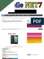 Cara Flashing Instal ulang Lenovo A1000M via Research Download