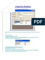 VB Net - Cara Input Ke Database