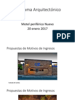 Programa Arquitectónico Motel