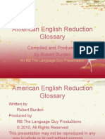 American English Glossary of Reduced Speech Forms
