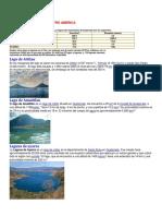 Centroamerica Con Sus Lagos, Lagunas, Puertos, Montañas, Rios y Volcanes