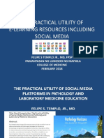 The Practical Utility of E- Learning and Social Media in Medical Education