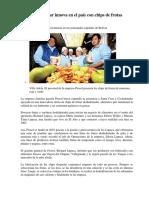 Empresa Familiar Innova en El País Con Chips de Frutas Deshidratadas