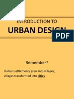3.1 Intro to Urban Design - The City