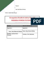 Occupation Health & Safety Plan