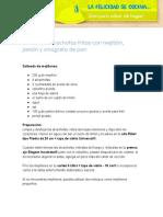 Receta de Alcachofas Fritas Con Mosculos Jamon y Vinagreta de Pan