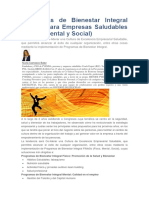 Programas de Bienestar Integral FiMeSo Para Empresas Saludables