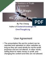 Seminar4 Word Magic Power of Words1