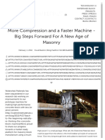 More Compression and a Faster Machine - Big Steps Forward for a New Age of Masonry - Watershed Materials - Technology for New Concrete Blocks